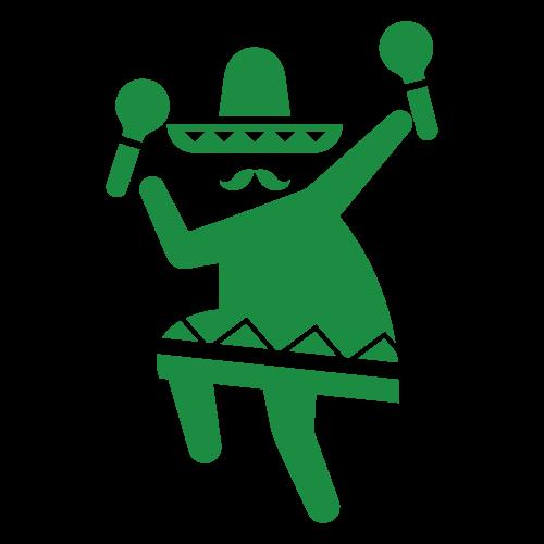 踊る陽気なメキシコ人